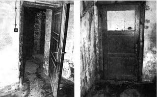 Doors of an alleged gas chamber at