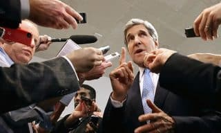 Kerry during his Iran testimony in Congress