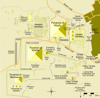 Overhead map of Giza - click to enlarge