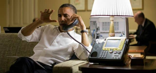 If the President can work the phone for support - then so can we.