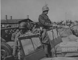 Patton preparing to depart from Ohrdruf Concentration Camp