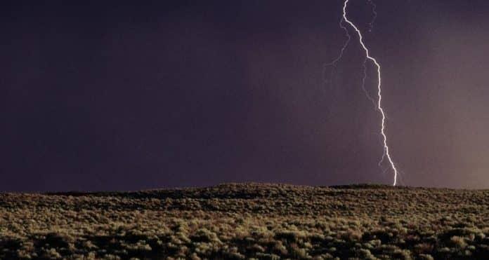 Storm over Kansas US