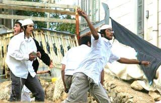 Extremist settlers throw rocks