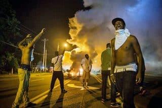 Rioters in Ferguson