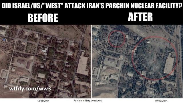October 2014 satelitte photos of Parchin explosion