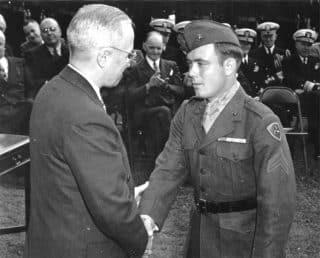 Woody Willams gets to shake Truman's hand