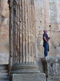 VT's Mike Harris - Temple of Bacchus, Baalbek, Lebanon, 2014