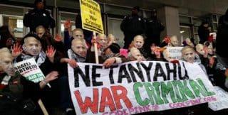 Netanyahu British protest