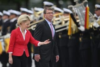 Ash Carter with his German counterpart
