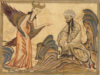Mohammed receiving revelation
