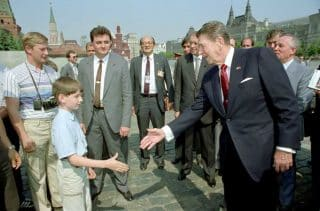 Putin has come a long way since working the Reagan KGB security detail in Red Square