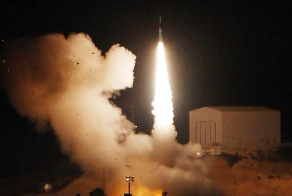 Israeli missile heading for Damascus (Reuters Image)