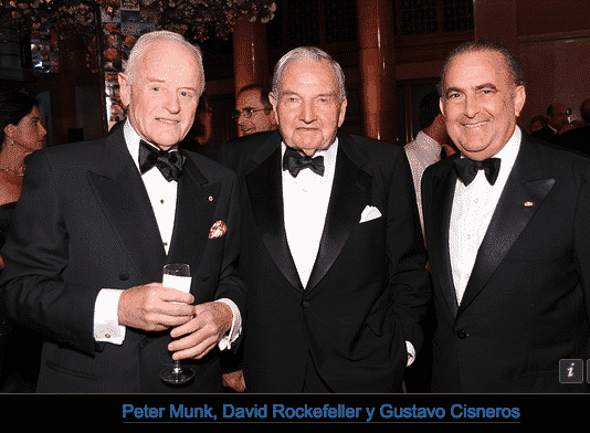 Peter Munk with David Rockefeller and