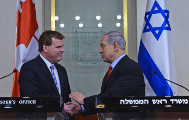 Canadian Foreign Affairs Minister John Baird Echoed the Positions of Israeli Prime Minister Benjamin Netanyahu especially on Iran.