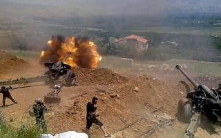 Syrian artillery positions fighitng ISIS in Zabadani were bombed by the IDF