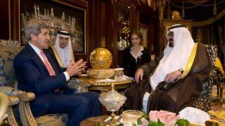 Kerey with the late King Abdullah