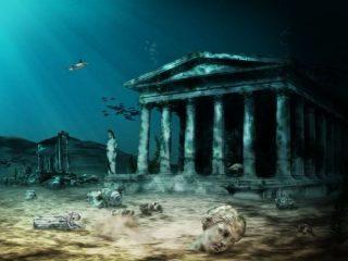 Artist's depiction of Atlantis