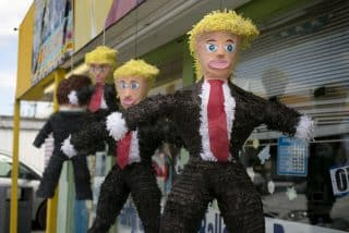 Donald Trump pinatas hang at Pinata Party Palace in Austin, Texas, August 5, 2015. Store owner, Jorge Salazar says the Trump pinatas have become pretty popular since Trump's derogatory statements regarding Mexican immigrants.