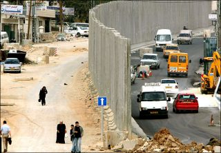 Fence Building -- This is the fence that Bibi built with American dollars