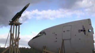 Test mock up of the BUK missile strike