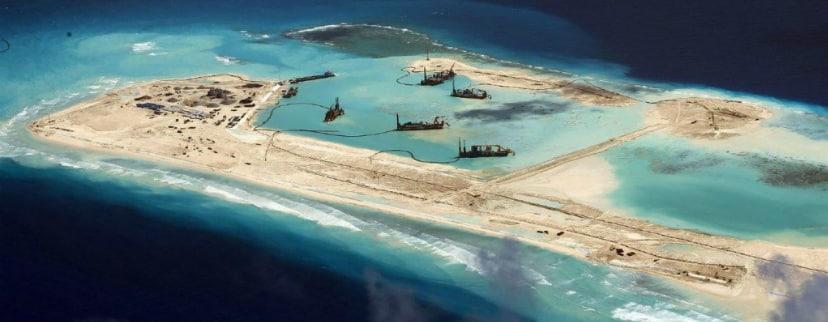 Chinese artificial island landing strip