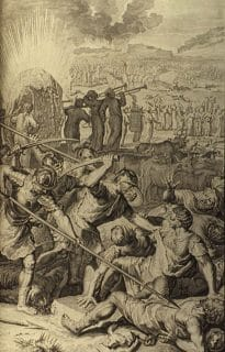 The Hebrew/Jewish genocide against the Midian Gentile people as depicted in Numbers 31.