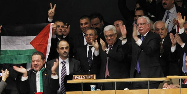 Abbas and the Palestinian people waited a long time for this, then the Zios started hammering again