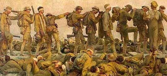 WWI blinded and burned victims of mustard gas
