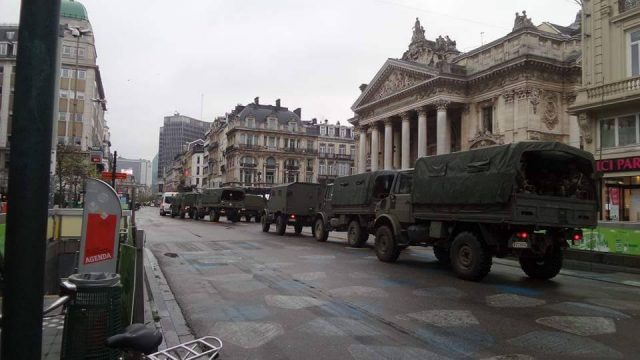 Brussels martial law (photo taken around 11 a.m. by FS)