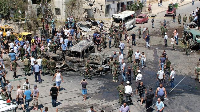 """This photo is from a September car bombing in Latakia by Western """"moderate rebels"""""""
