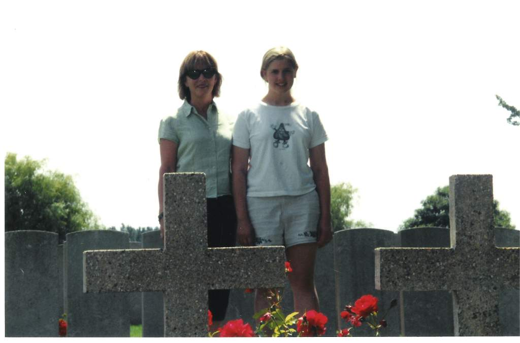 Duff girl gang at military cemetery outside Paris