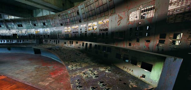 Chernobyl control panel as it is today