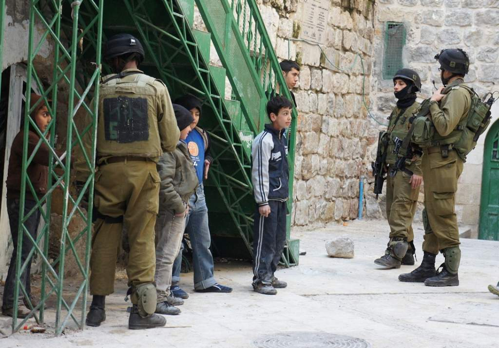 Golani Brigade detaining children on the occupied West Bank, known as Israel's most cowardly and brutal