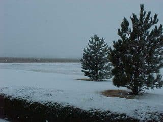 Plains in the Fall Snow