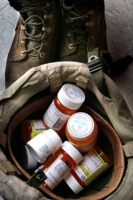 "05 Feb 09 (kpchar3) by Karen Pulfer Focht: Charley Williams takes nine prescription medicines to help manage his headaches, anxiety, sleeplessness and chronic pain. Charley like many Iraqi veterans, also suffers from post traumatic stress syndrome. He says as long as he has his ""meds"" he is okay. (7-11-08)"