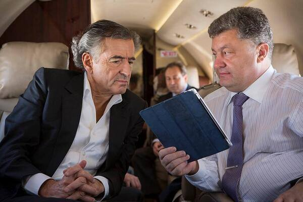 """""""This is the lie that we are going to tell everyone. I am Petro Poroshenko, and you are Bernard Levy. See the connection? Our brothers are known to propagate lies and fabrications."""""""