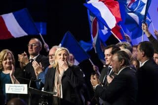 Marine le Pen Photo credit Albert Facelly Liberation