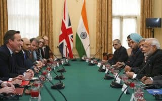 India facing off its old colonial power...or is Modi doing some colonizing of Britain?