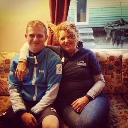 Chris Herbert with mom