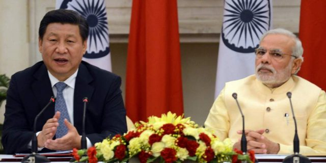 Chinese and Indian presidents